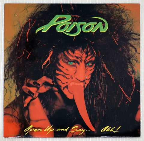 Poison  Open Up And Say ...Ahh! Banned Front Cover Vinyl Record