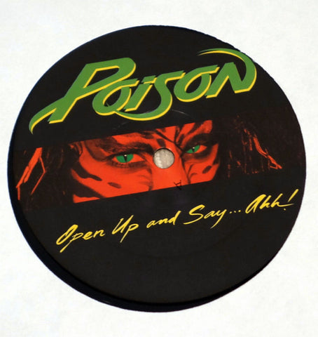 Poison  Open Up And Say ...Ahh! Label Vinyl Record