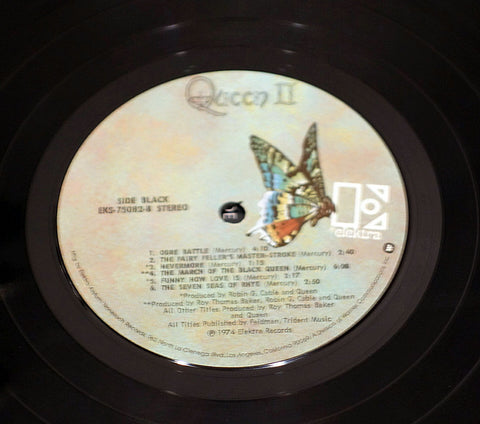 Queen ‎– Queen II - Label - Vinyl Record