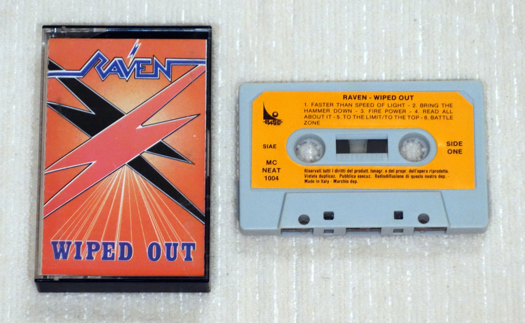 Raven ‎– Wiped Out - Cassette