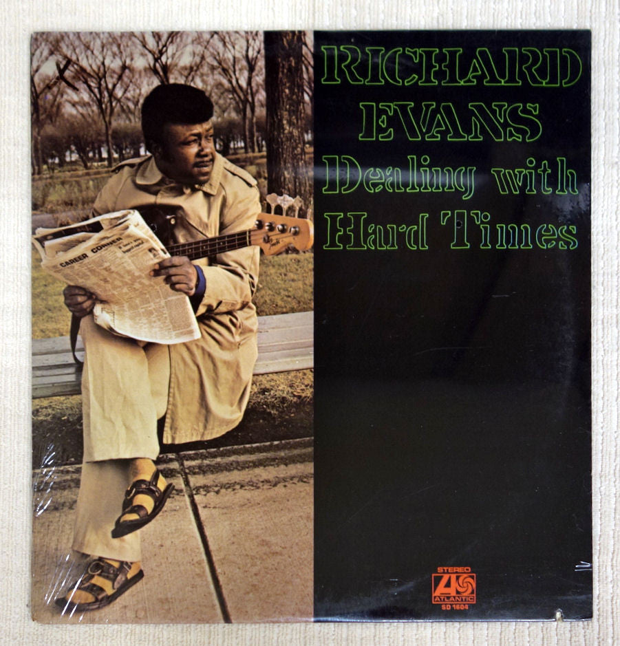 Front album cover to Richard Evans vinyl record Dealing With Hard Times.