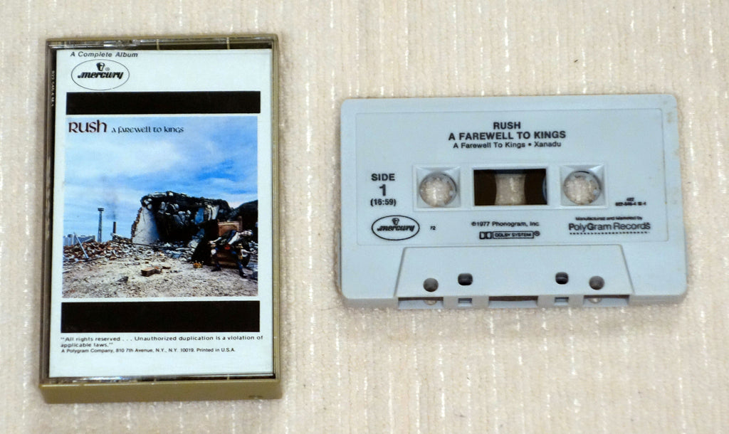 Rush - A Farewell To Kings - Cassette