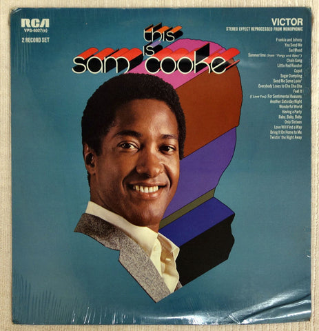 Front album cover to Same Cooke vinyl record This Is Sam Cooke.