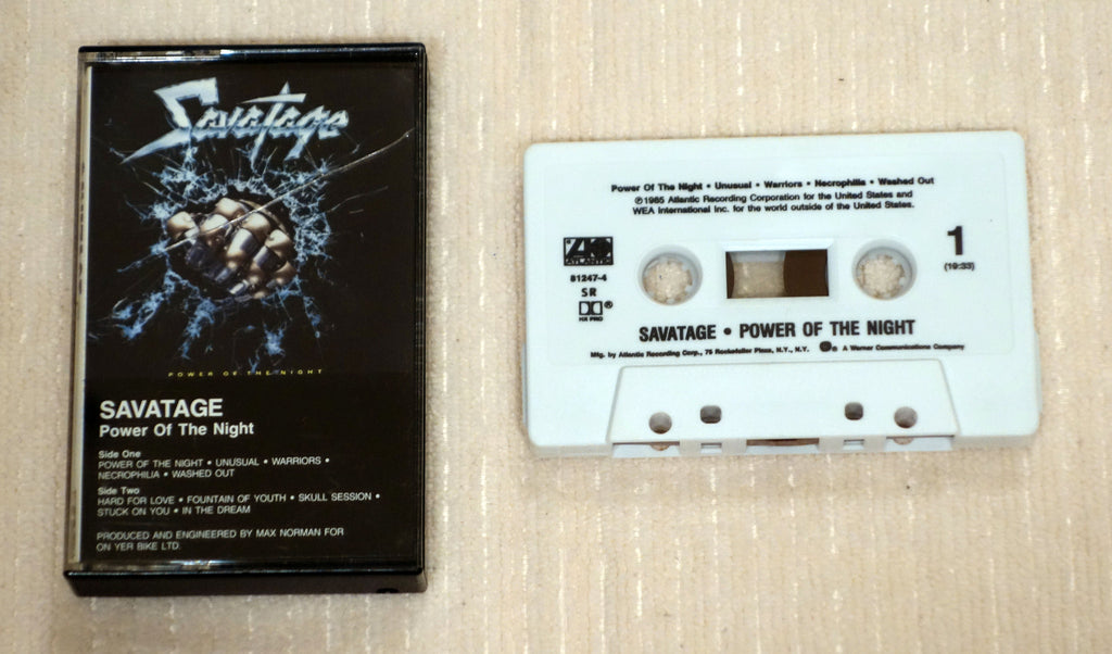 Savatage ‎– Power Of The Night - Cassette