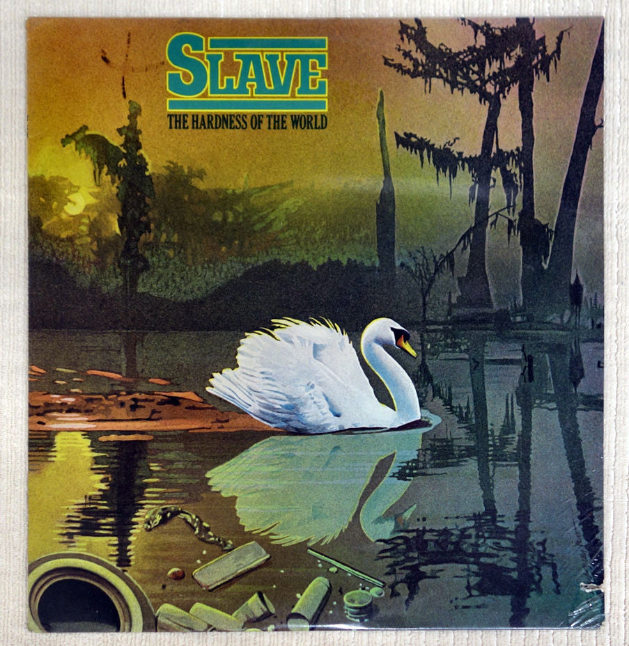 Front album cover for Slave vinyl record The Hardness Of The World.