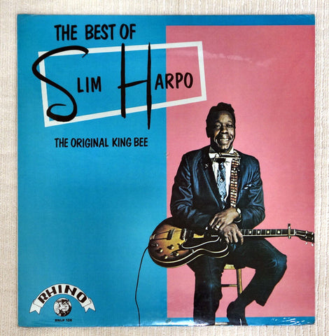 Front album cover to Slim Harpo vinyl record The Best Of Slim Harpo The Original King Bee.