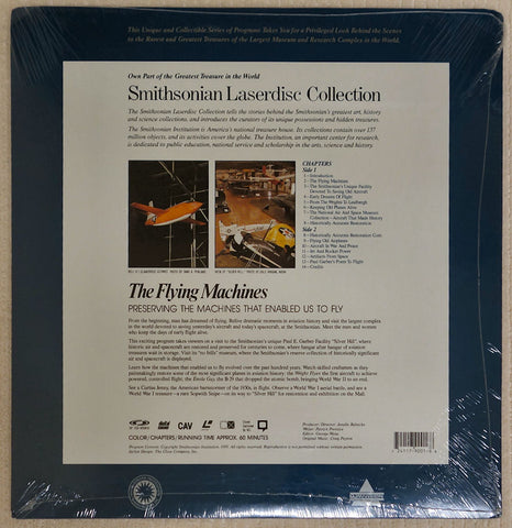 Smithsonian Flying Machines - Laserdisc - Back Cover
