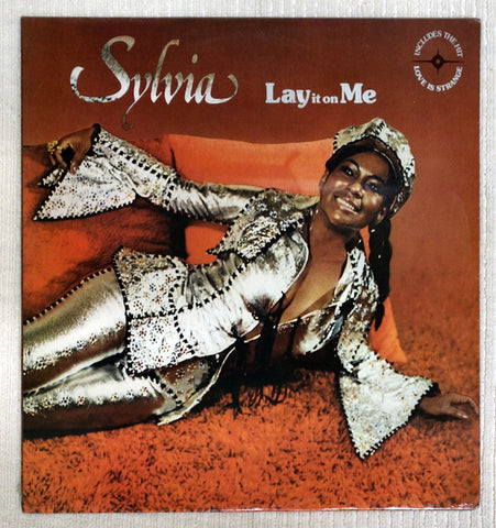 Front album cover to Sylvia vinyl record Lay It On Me.