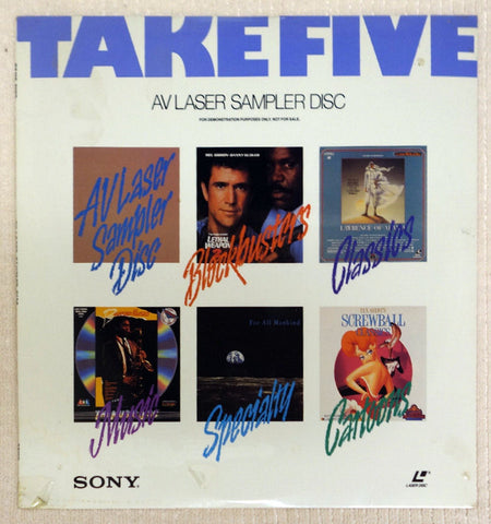 Take Five AV Laser Sampler Disc Front Cover