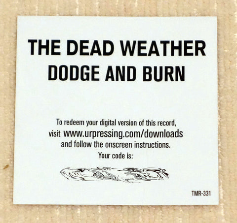 The Dead Weather ‎– Dodge And Burn - Vault 25 Limited Edition - Digital Download