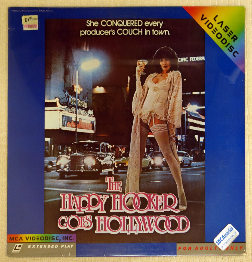 The Happy Hooker Goes Hollywood laserdisc front cover.