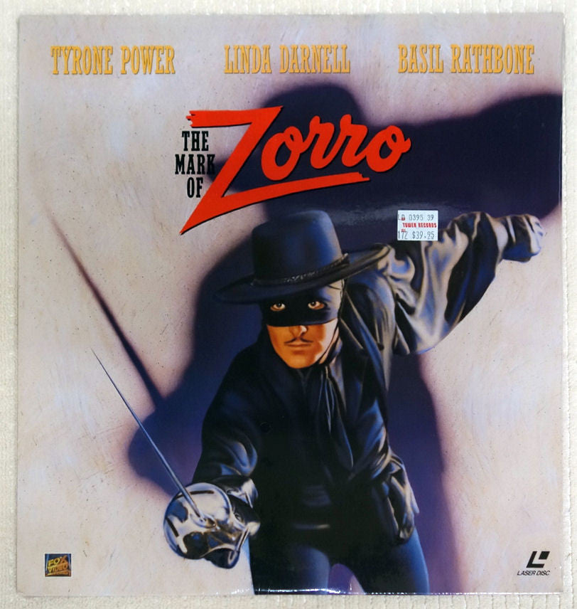 The Mark Of Zorro Laserdisc - Front Cover