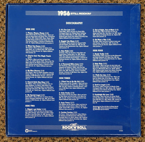 The Rock 'N' Roll Era 1956 Still Rockin' - Back Cover - Vinyl Record Box Set