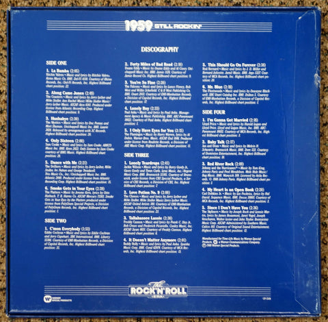 The Rock 'N' Roll Era 1959 Still Rockin' - Back Cover - Vinyl Record Box Set