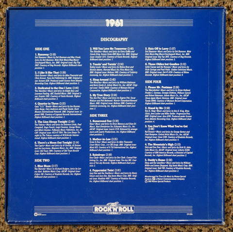 The Rock 'N' Roll Era 1961 - Back Cover - Vinyl Record Box Set