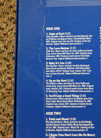 The Rock 'N' Roll Era 1962 - Back Cover Crease - Vinyl Record Box Set