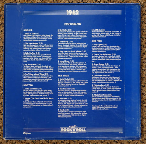 The Rock 'N' Roll Era 1962 - Back Cover - Vinyl Record Box Set