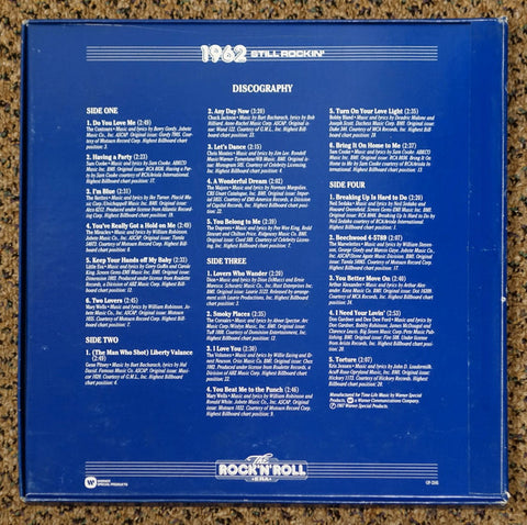 The Rock 'N' Roll Era 1962 Still Rockin' - Back Cover - Vinyl Record Box Set