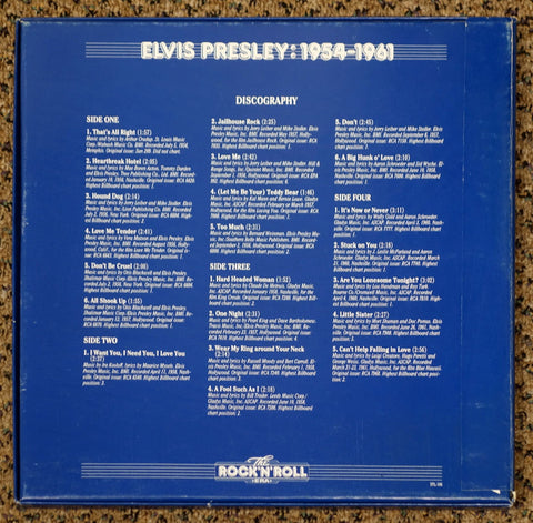 The Rock 'N' Roll Era Elvis Presley 1954-1961 - Back Cover - Vinyl Record Box Set