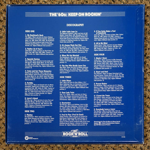 The Rock 'N' Roll Era The '60s Keep On Rockin' - Back Cover - Vinyl Record Box Set