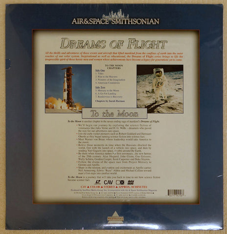 Dreams of Flight Series: To The Moon - Laserdisc - Back Cover