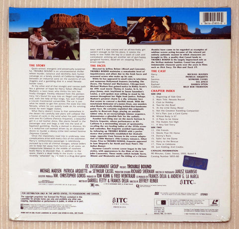 Trouble Bound - Back Cover - Laserdisc