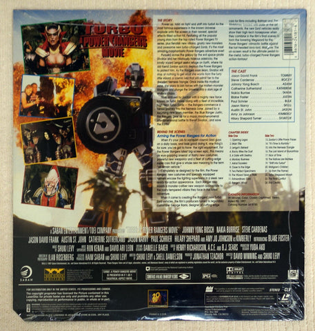 Turbo A Power Rangers Movie - Back Cover