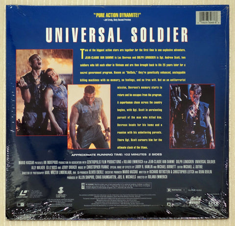 Universal Soldier - Back Cover - Laserdisc