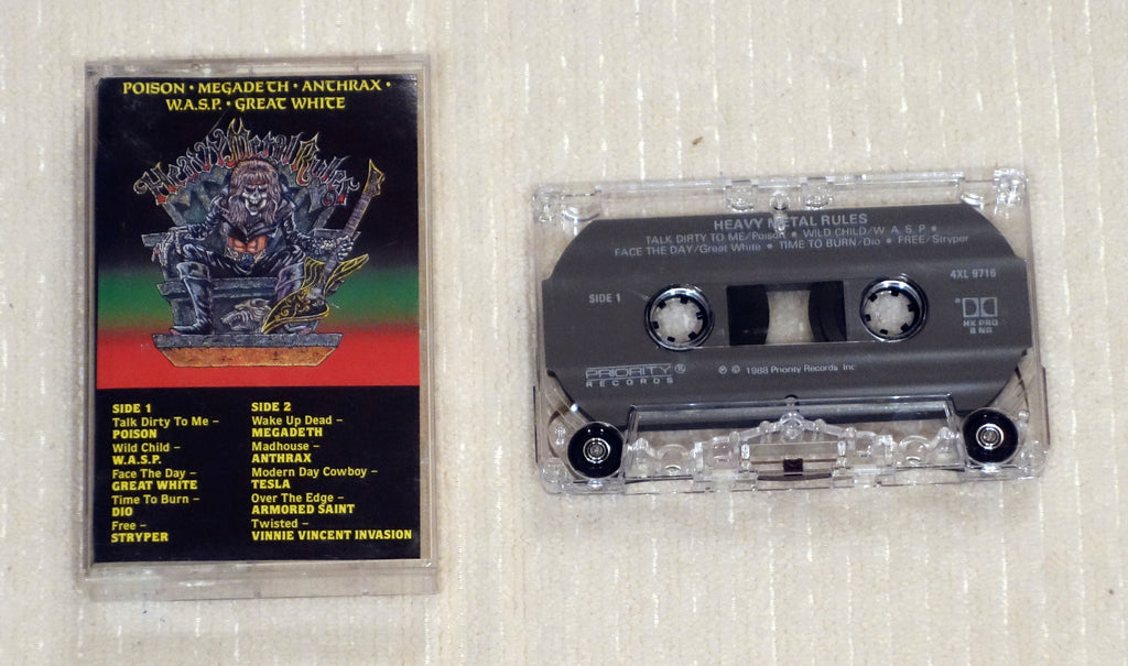 Various ‎– Heavy Metal Rules - Cassette