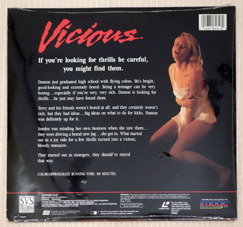 Vicious - Back Cover - Laserdisc