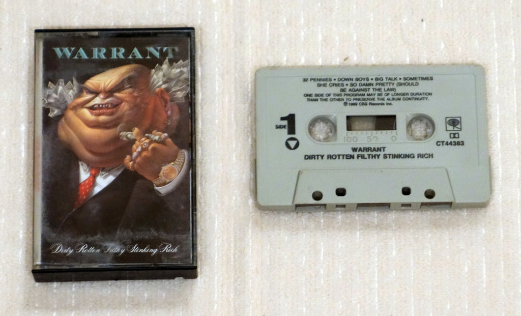 Warrant ‎– Dirty Rotten Filthy Stinking Rich - Cassette