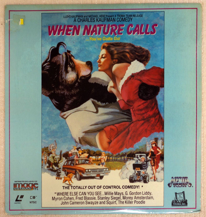 When Nature Calls Laserdisc - Front Cover