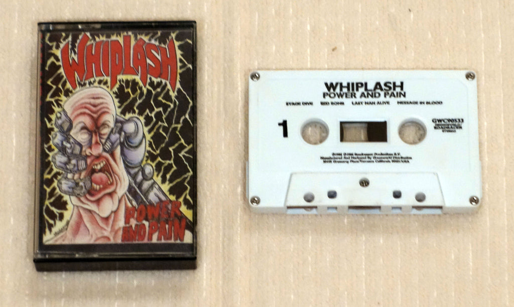Whiplash ‎– Power And Pain - Cassette