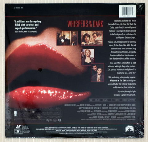 Whispers in the Dark - Back Cover - Laserdisc