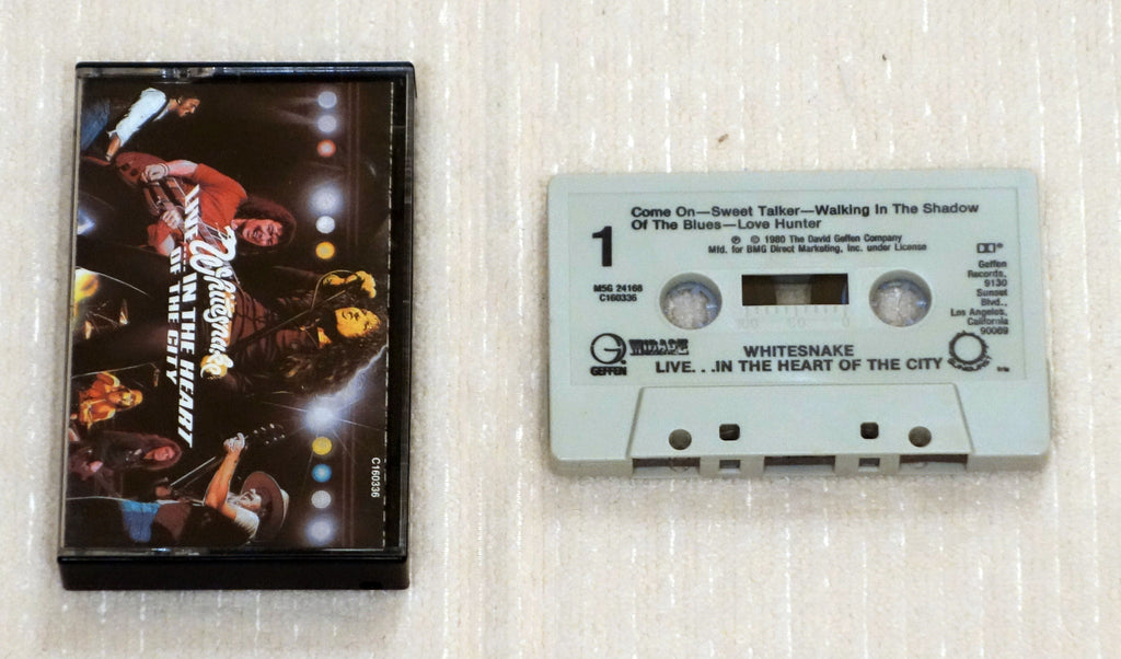 Whitesnake ‎– Live... In The Heart Of The City - Cassette