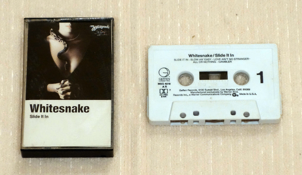 Whitesnake ‎– Slide It In - Cassette