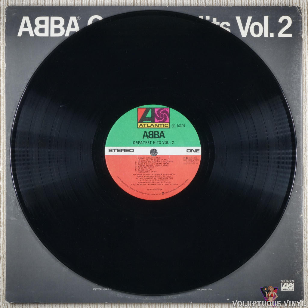 ABBA ‎– Greatest Hits Vol. 2 - Vinyl Record - Front Cover