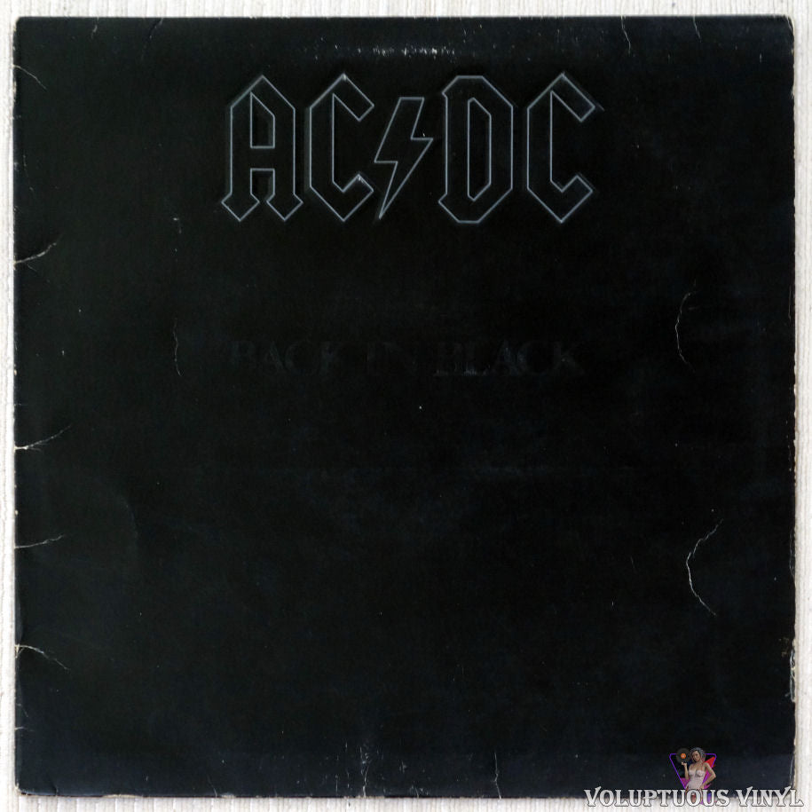 AC/DC ‎– Back In Black vinyl record front cover