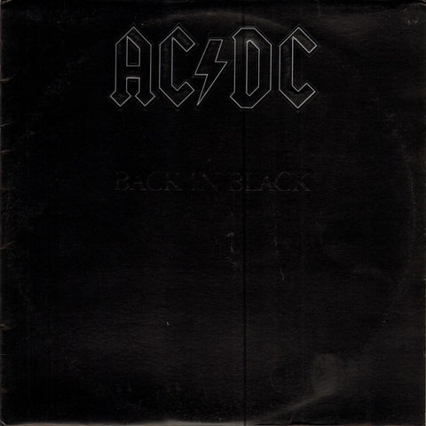 AC/DC ‎– Back In Black (1980) Vinyl Record