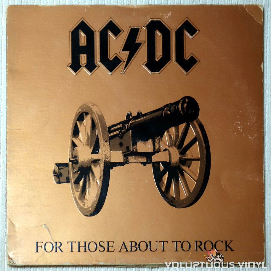 AC/DC ‎– For Those About To Rock (We Salute You) - Vinyl Record - Front Cover