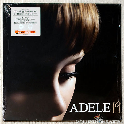 Adele ‎– 19 - Vinyl Record - Front Cover