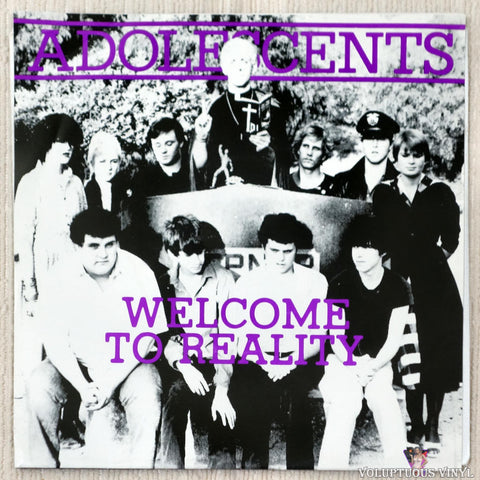 "Adolescents ‎– Welcome To Reality (1990) 7"" Purple Vinyl"