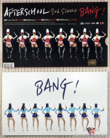After School ‎– Bang! (3rd Single) CD back cover