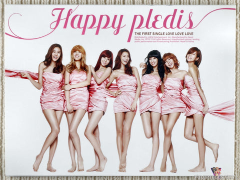 After School ‎– Happy Pledis (The First Single Love Love Love) (2010) Autographed, Korean Press
