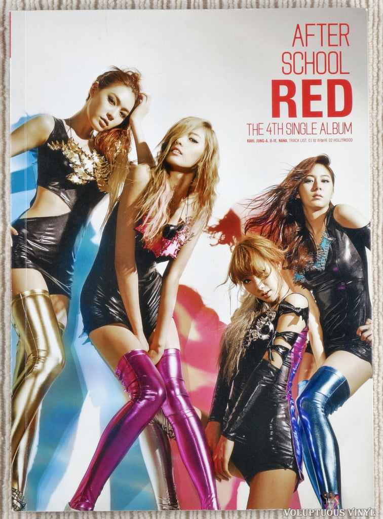 After School ‎– Red (The 4th Single Album) CD front cover