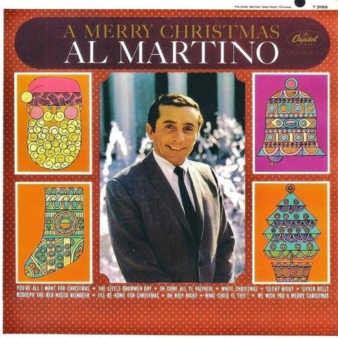 Al Martino ‎– A Merry Christmas vinyl record front cover
