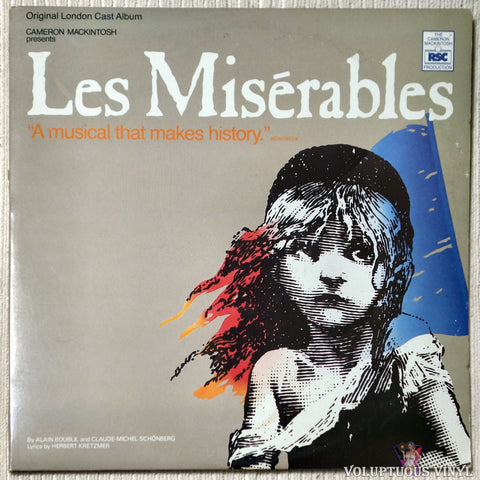 Alain Boublil And Claude-Michel Schönberg ‎– Les Misérables vinyl record front cover