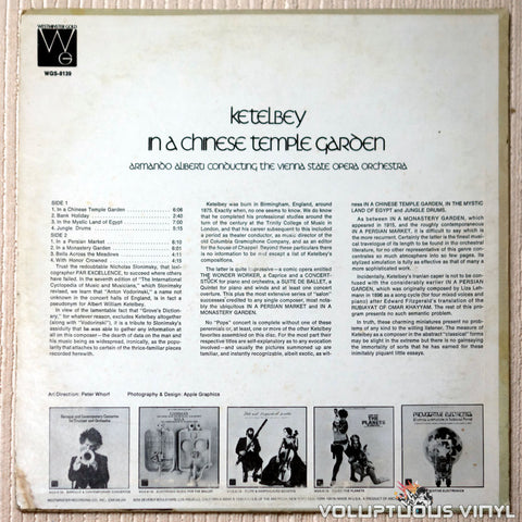 Ketelbey ‎– In A Chinese Temple Garden - Vinyl Record - Back Cover
