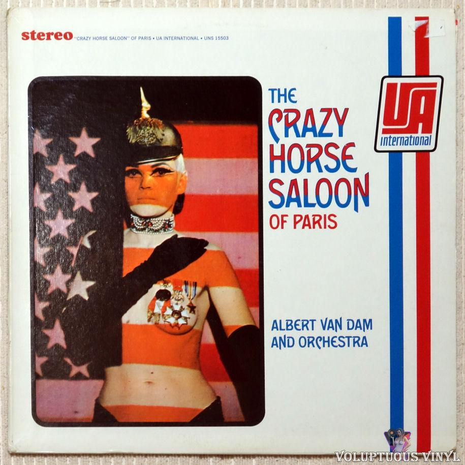 Albert Van Dam And Orchestra ‎– The Crazy Horse Saloon Of Paris vinyl record front cover