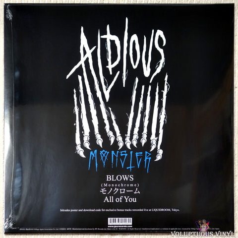 Aldious ‎– All Brose vinyl record back cover